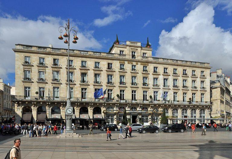 Facade du Grand Hotel de Bordeaux